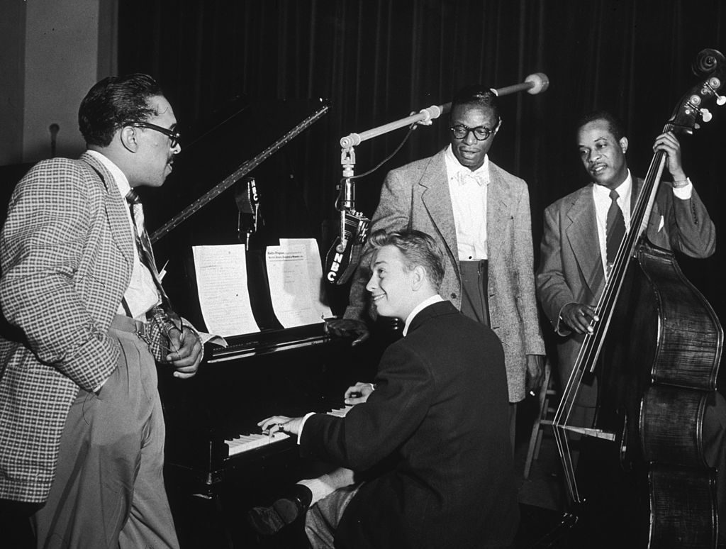 The Nat King Cole Trio and Mel Tormé on piano