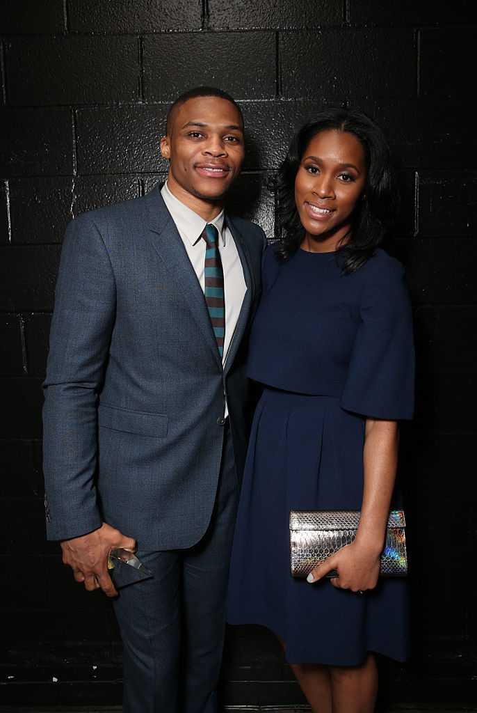 Russell Westbrook and Nina Westbrook