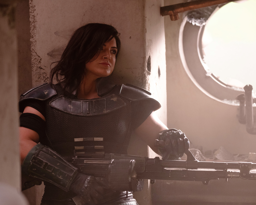 Gina Carano in The Mandalorian