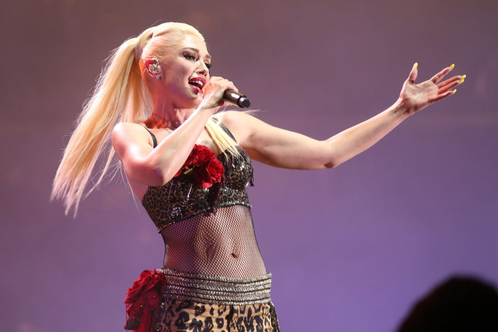 Gwen Stefani performs on stage