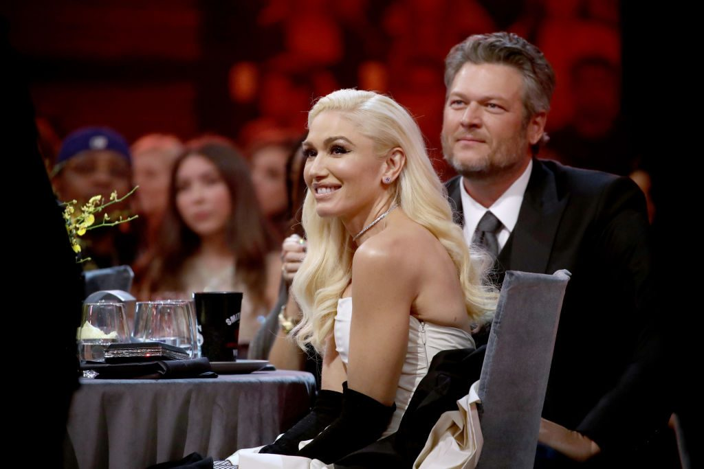 Gwen Stefani and Blake Shelton attend the 2019 E! People's Choice Awards