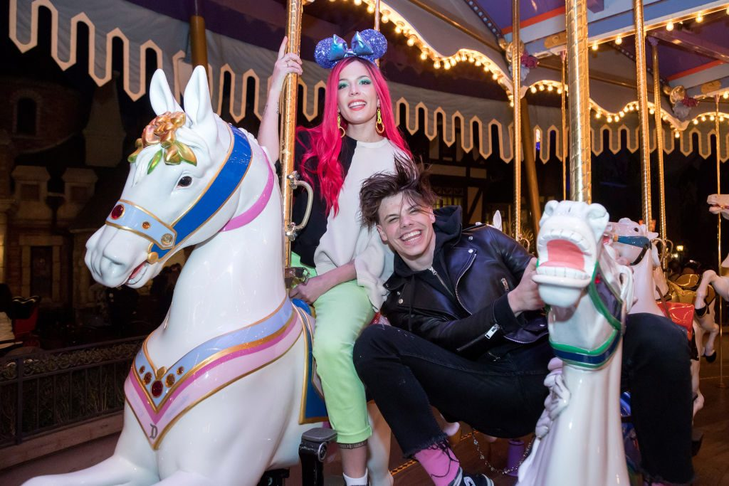 Singer Halsey and musician Yungblud at Disneyland Park