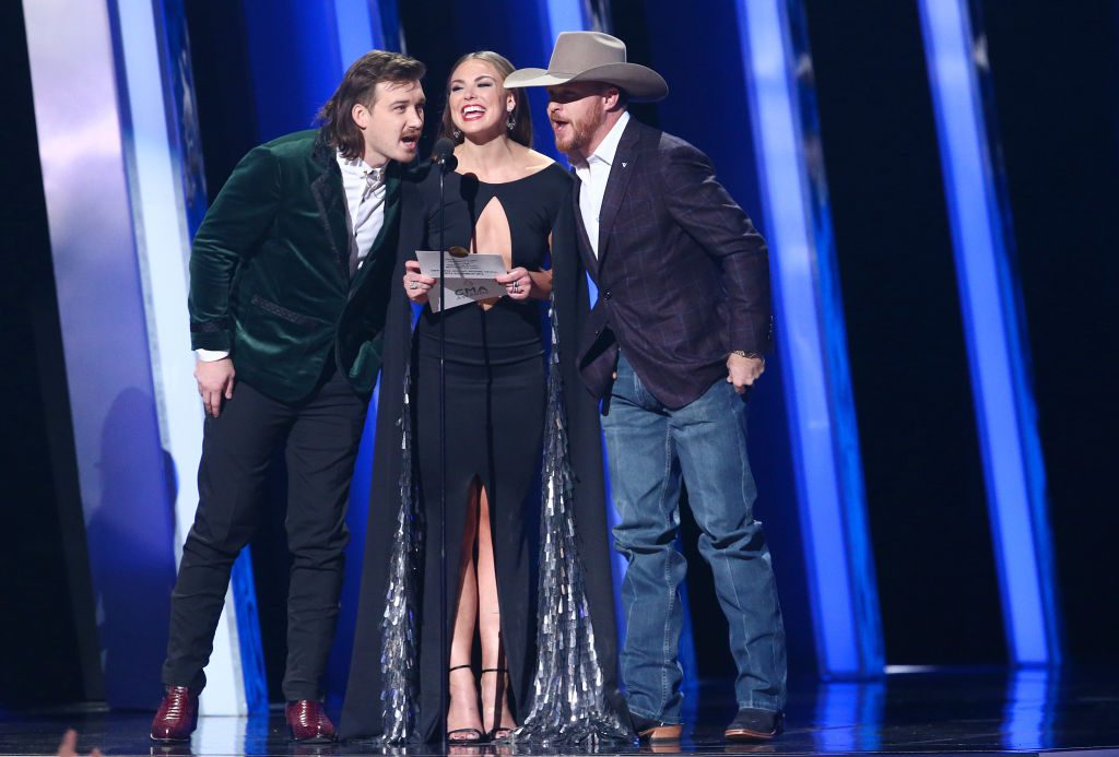 Morgan Wallen, Hannah Brown and Cody Johnson | Terry Wyatt/Getty Images
