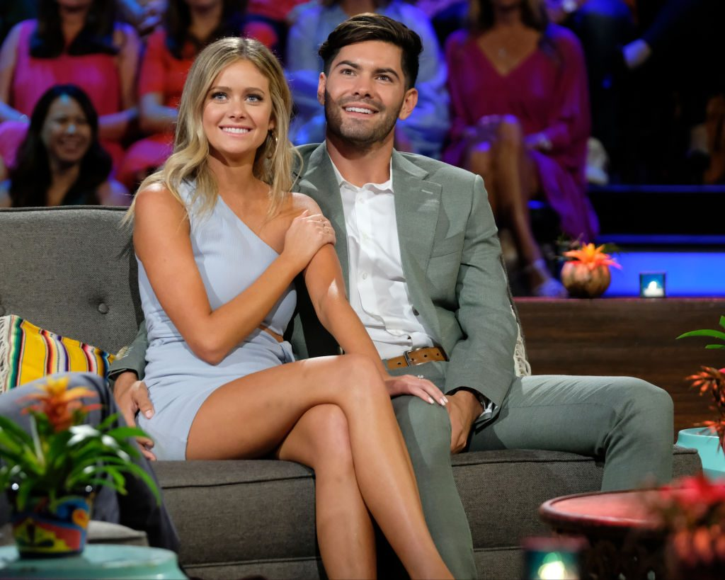 Hannah Godwin and Dylan Barbour at the Bachelor in Paradise finale