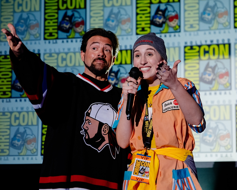 Harley Quinn and Kevin Smith