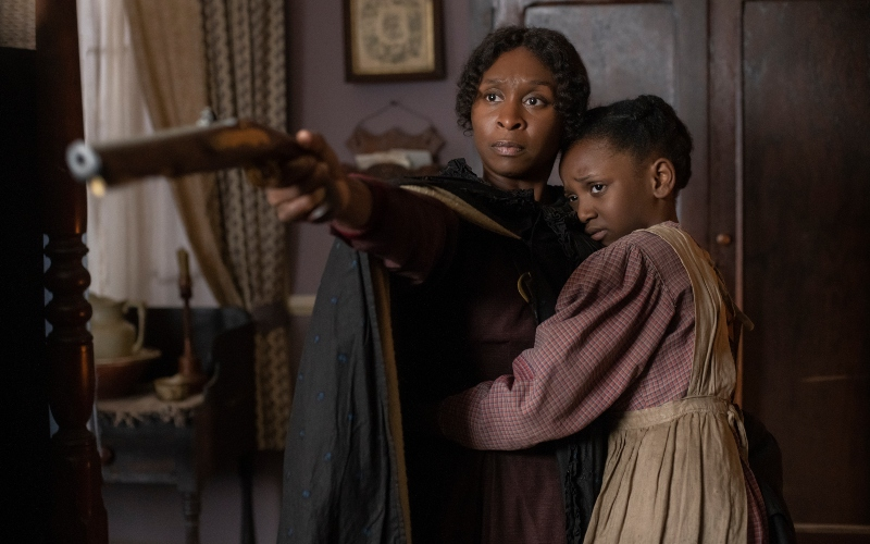 Cynthia Erivo stars as Harriet Tubman and Aria Brooks as Anger in 'Harriet'
