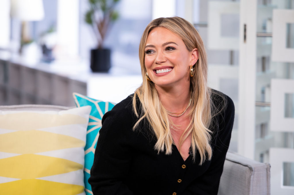 Hilary Duff on stage at D23 expo