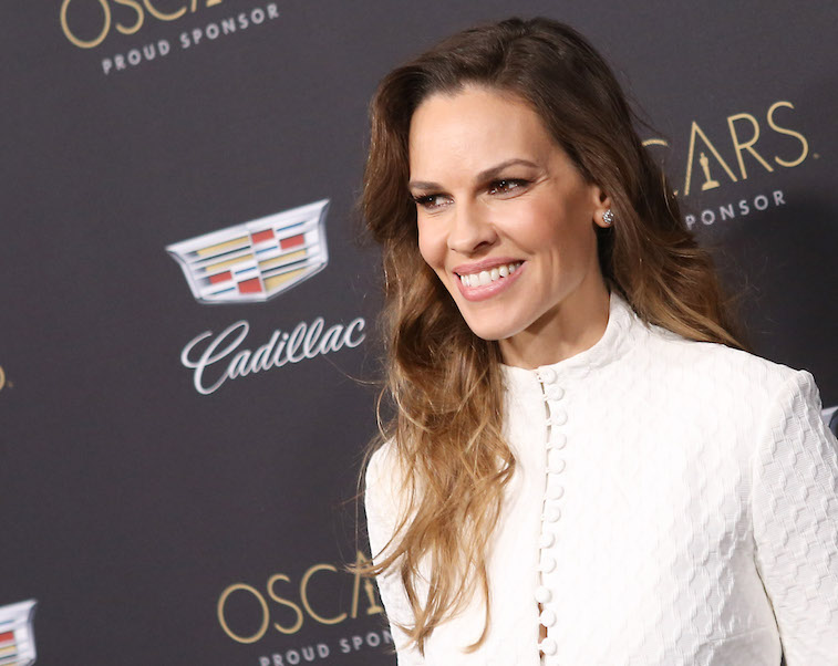 Hilary Swank on the red carpet
