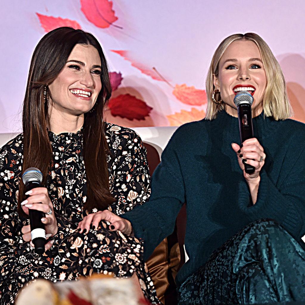 Idina Menzel and Kristen Bell