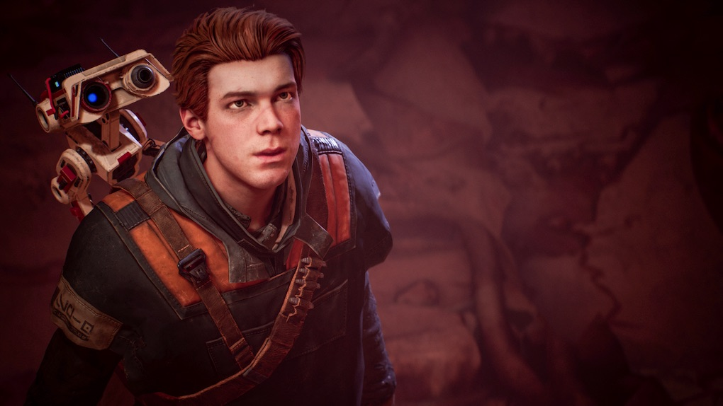 A still of Cal Kestis and his droid companion BD-1 in 'Jedi: Fallen Order.'