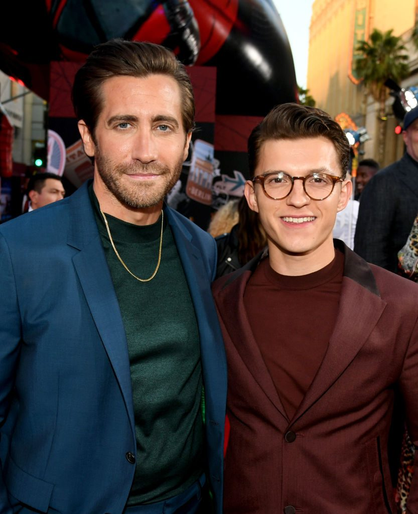 Jake Gyllenhaal and Tom Holland Spider-Man: Far From Home