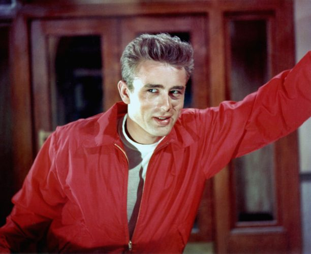 James Dean in a publicity shot for 'Rebel Without A Cause' in 1955.