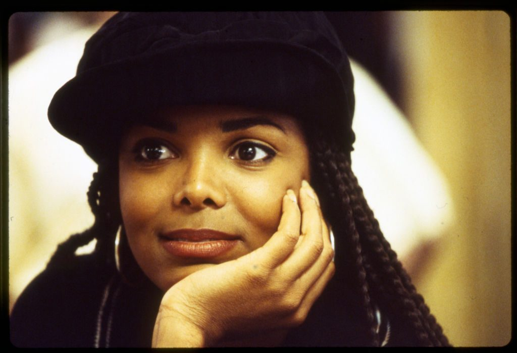 Janet Jackson on the set of 'Poetic Justice'