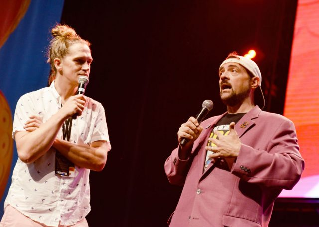 Jason Mewes and Kevin Smith at Los Angeles Comic-Con