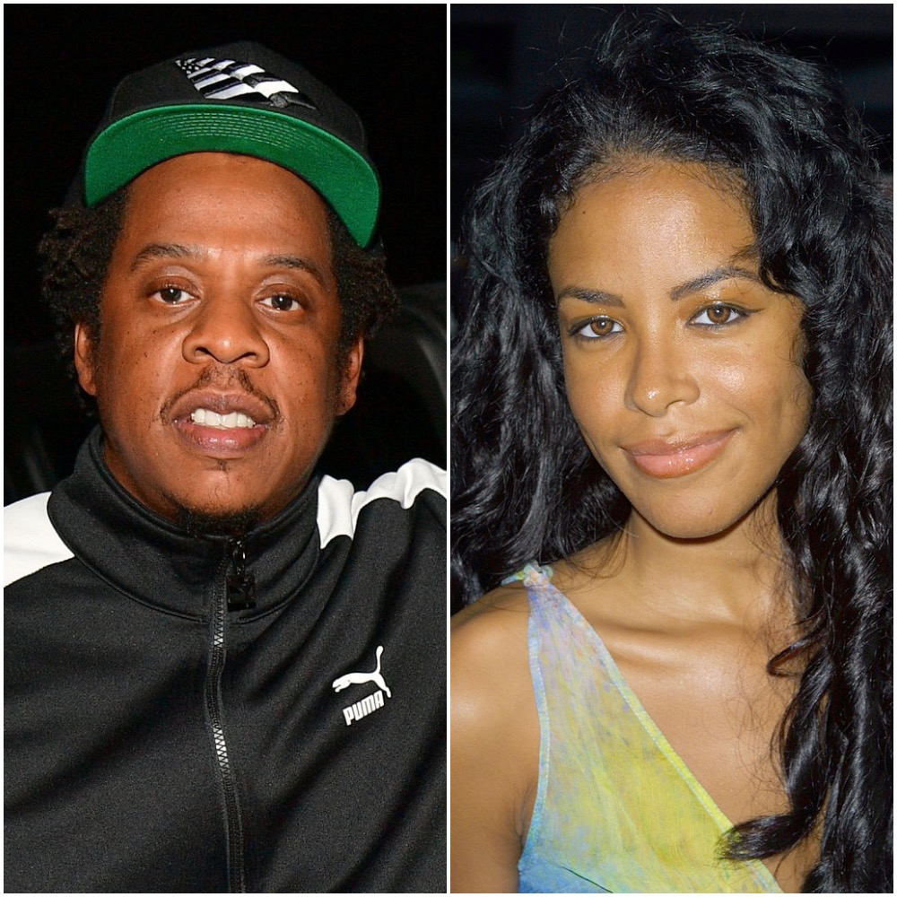 (L-R) Jay-Z and Aaliyah