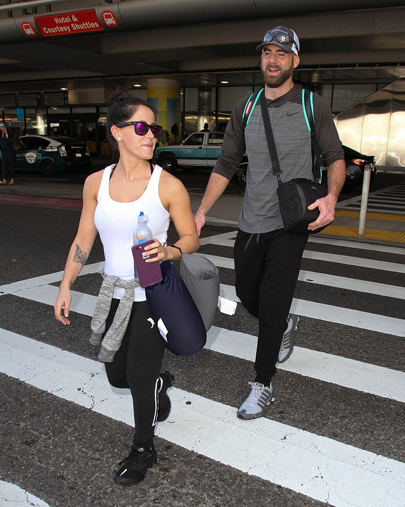 Jenelle Evans and David Eason seen at LAX