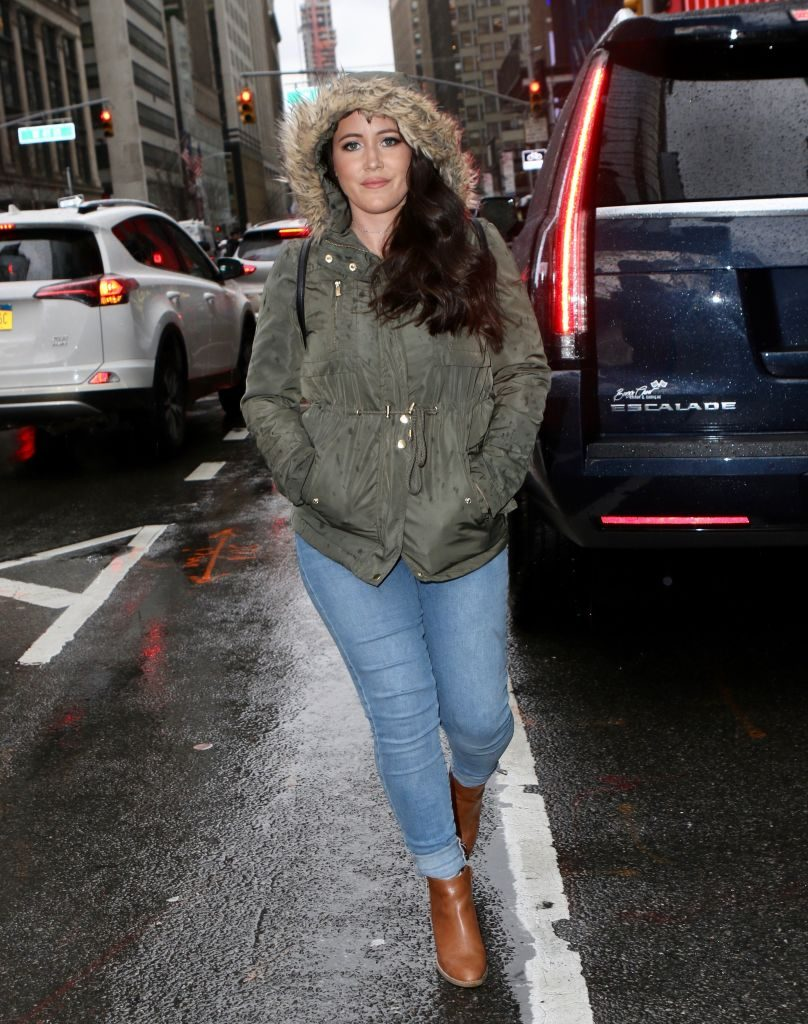 Jenelle Evans is seen on April 05, 2019 in New York City