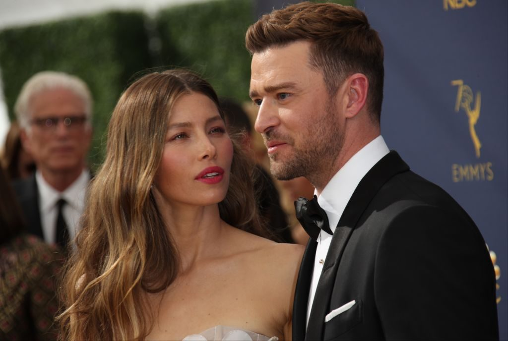 Jessica Biel and Justin Timberlake at an award show