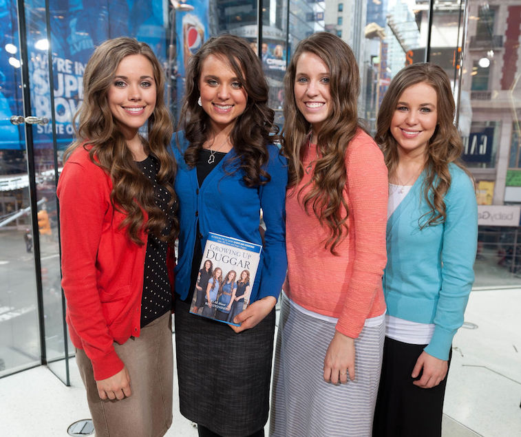 Jill Duggar with her sisters Jessa, Jinger, and Jana