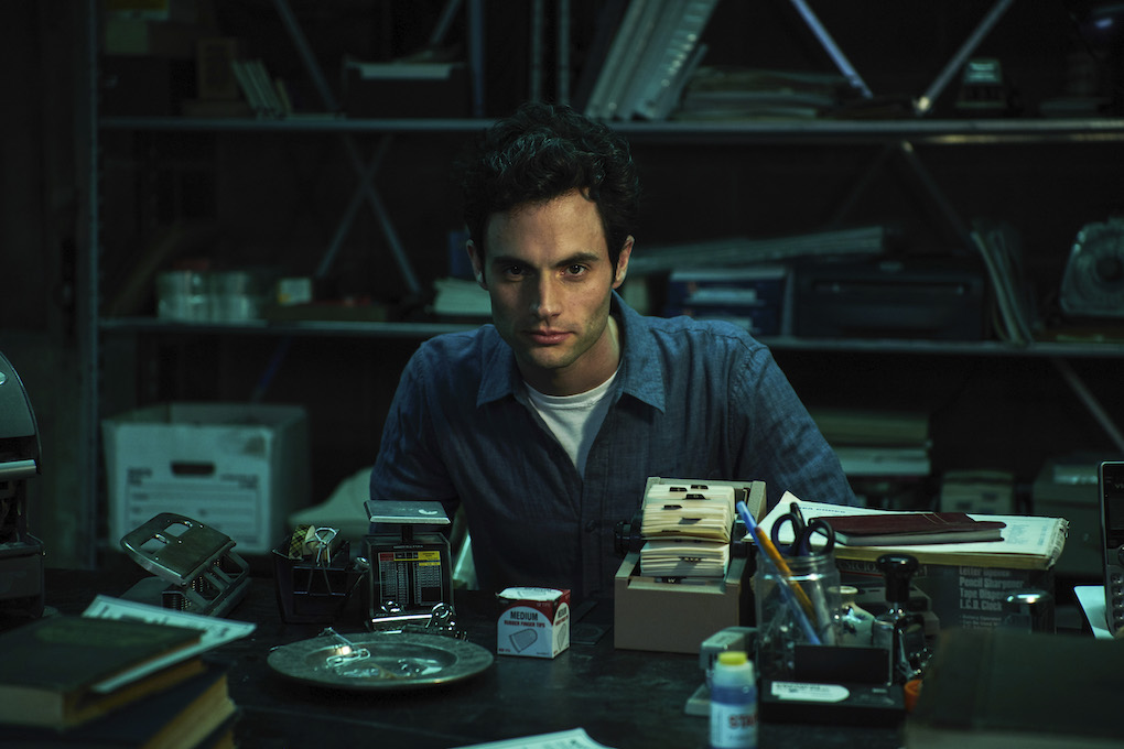 Joe Goldberg from Netflix's 'You' in his bookstore basement.