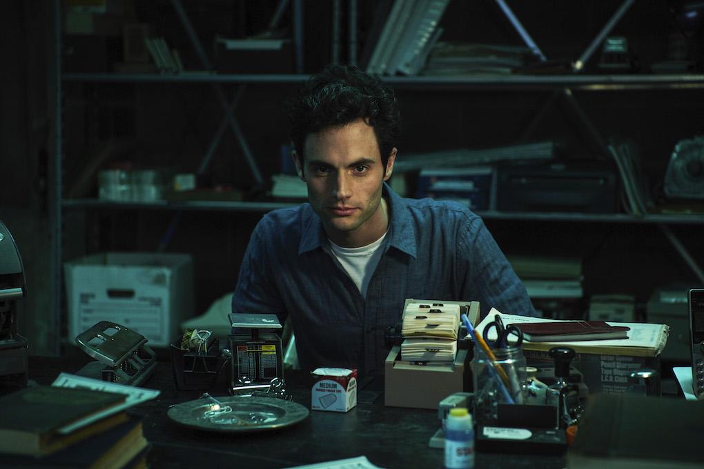 Joe Goldberg from Netflix's 'You' in his bookstore basement.