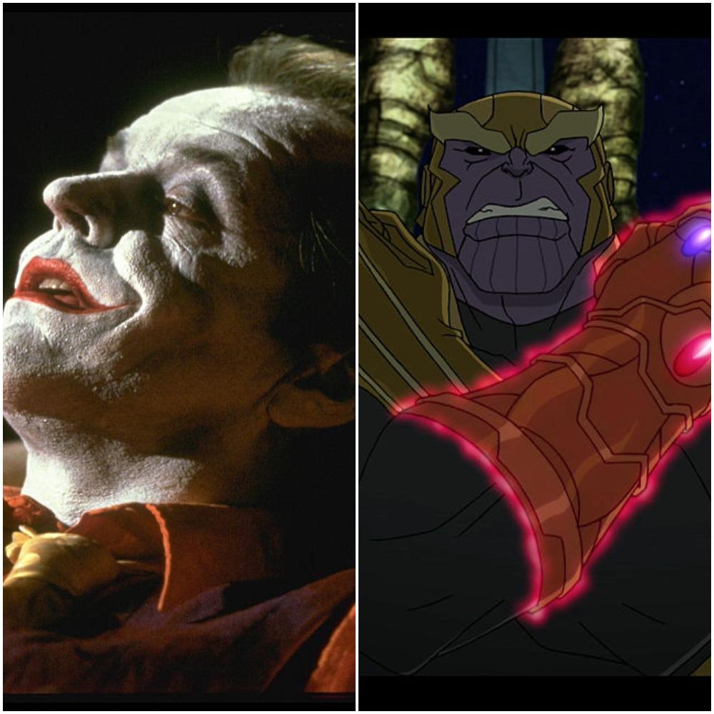 Joker DC villain and Thanos Marvel villain