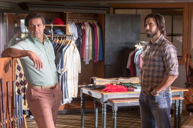 Jon Huertas (Miguel) and Milo Ventimiglia (Jack)