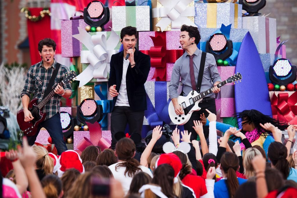 """The Jonas Brothers perform at the """"Disney Parks Christmas Day Parade"""""""