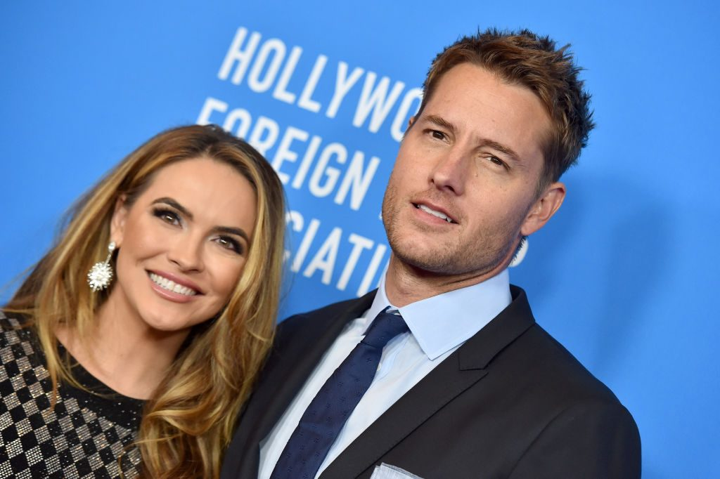 Chrishell Hartley and Justin Hartley walk the red carpet