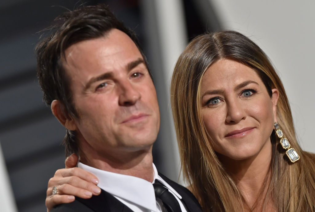 Jennifer Aniston and Justin Theroux on the red carpet in 2017