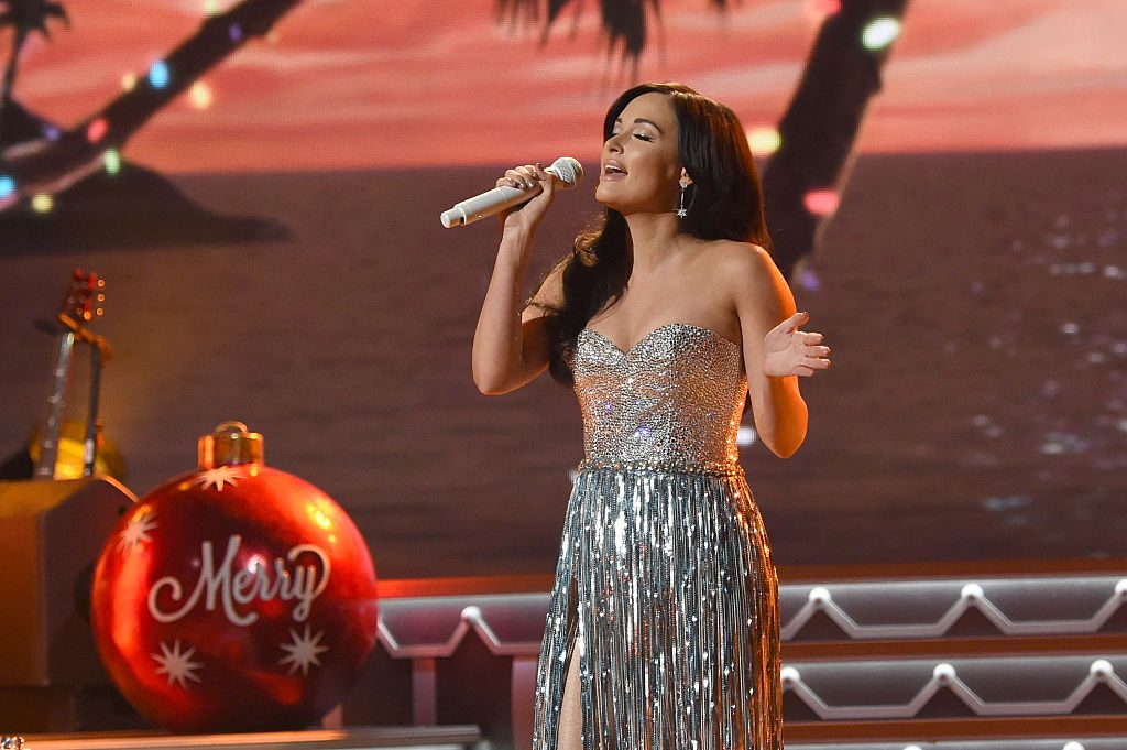 Singer-songwriter Kacey Musgraves performs on stage during the CMA 2016 Country Christmas