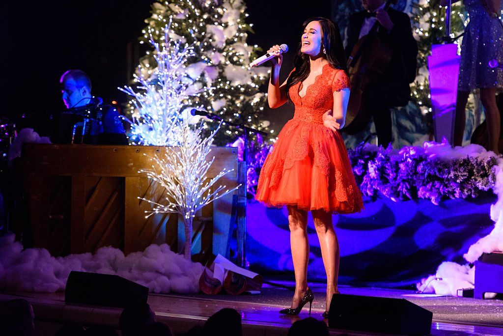 Singer Kacey Musgraves performs live on stage for the 'A Very Kacey Christmas Tour'
