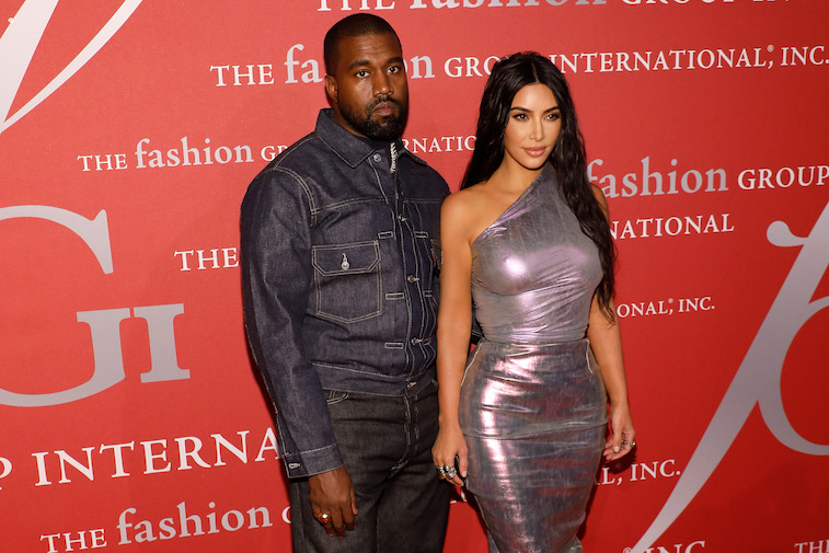 Kanye west kim kardashian on the red carpet