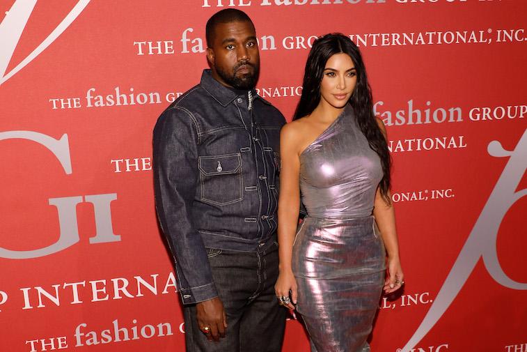 Kanye west kim kardashian on the red carpet