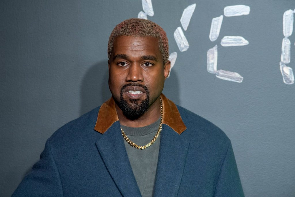 Kanye West attends the Versace fall 2019 fashion show.