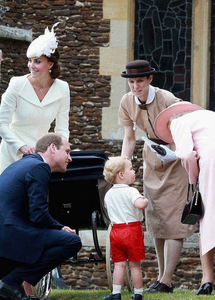 Kate Middleton, Prince William, Prince George, Maria Teresa Turrion Borrallo, and Queen Elizabeth