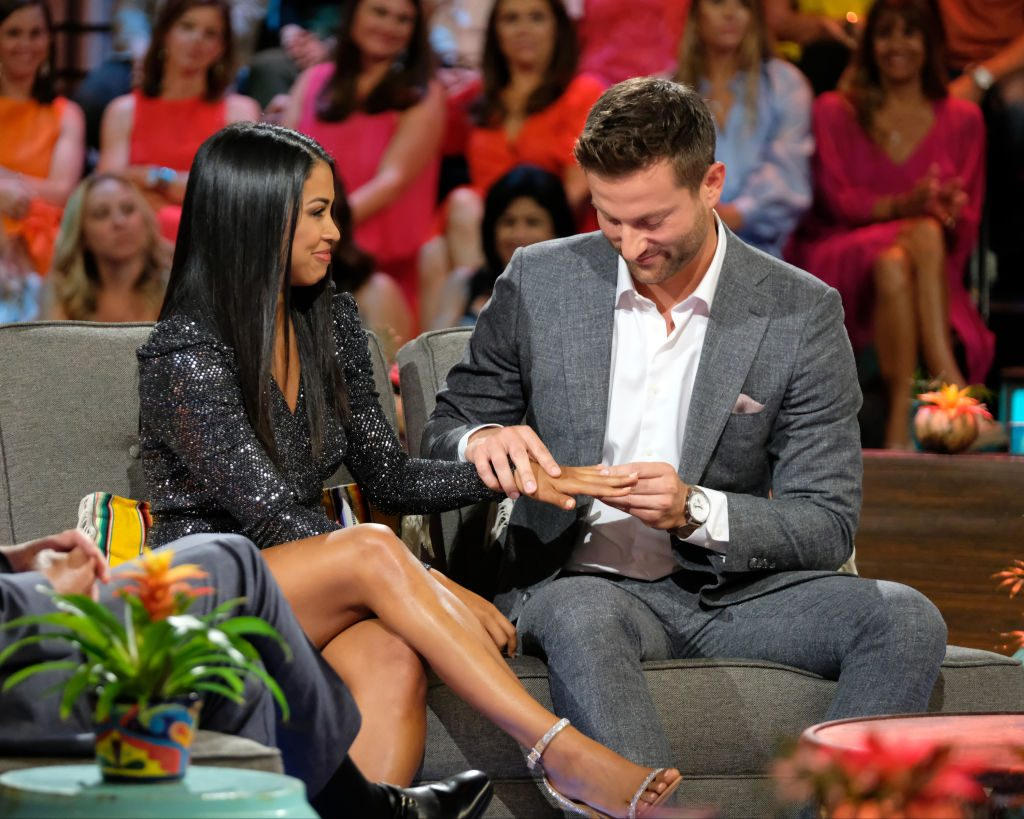 Katie Morton and Chris Bukowski at the 'Bachelor in Paradise' reunion special