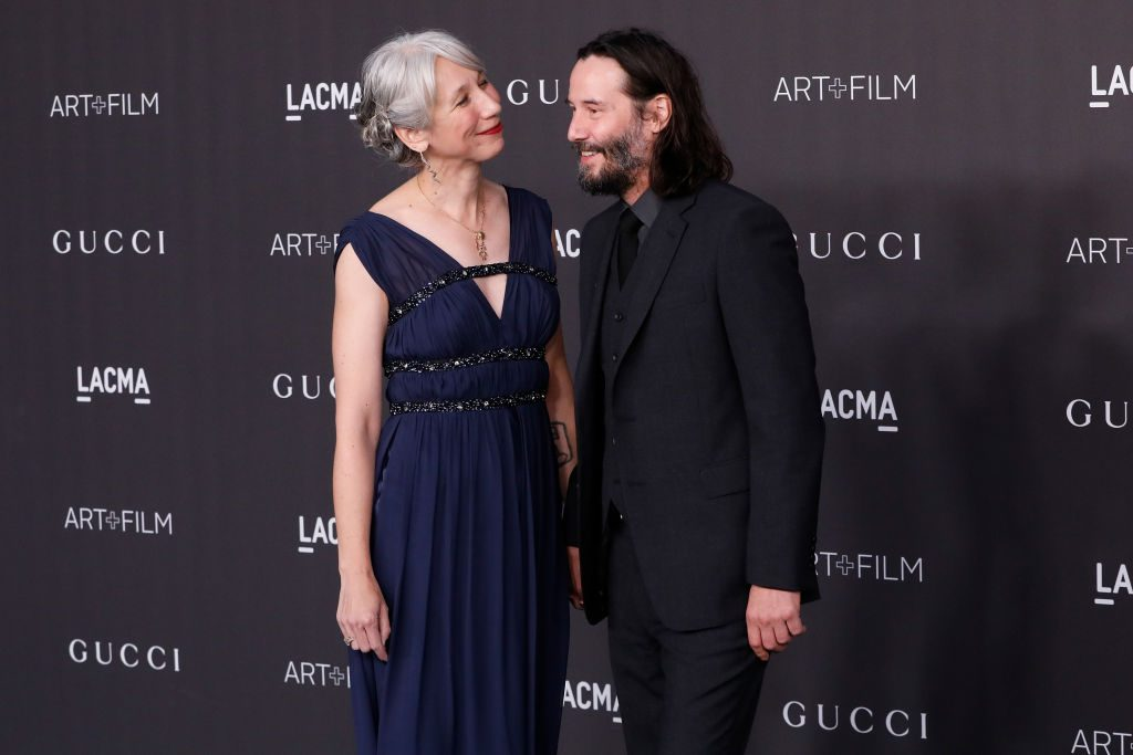Alexandra Grant and Keanu Reeves attend the 2019 LACMA Art + Film Gala at LACMA on November 02, 2019