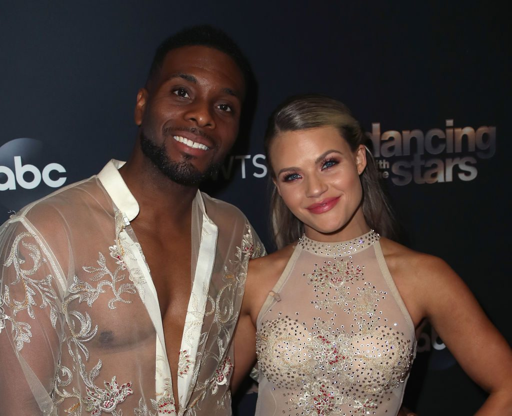 Kel Mitchell and Witney Carson pose at 'Dancing with the Stars' Season 28