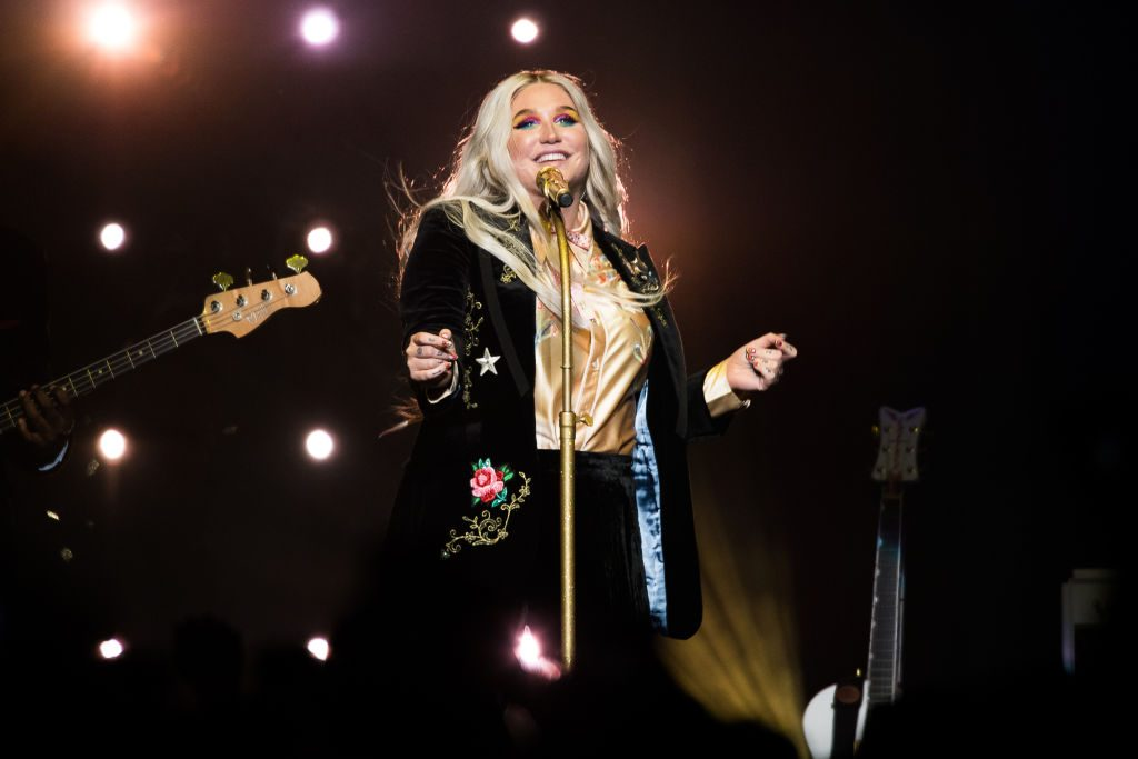 Kesha performs in concert during the Rainbow tour