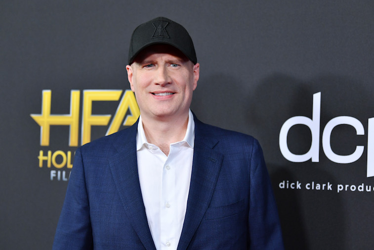 Kevin Feige on the red carpet