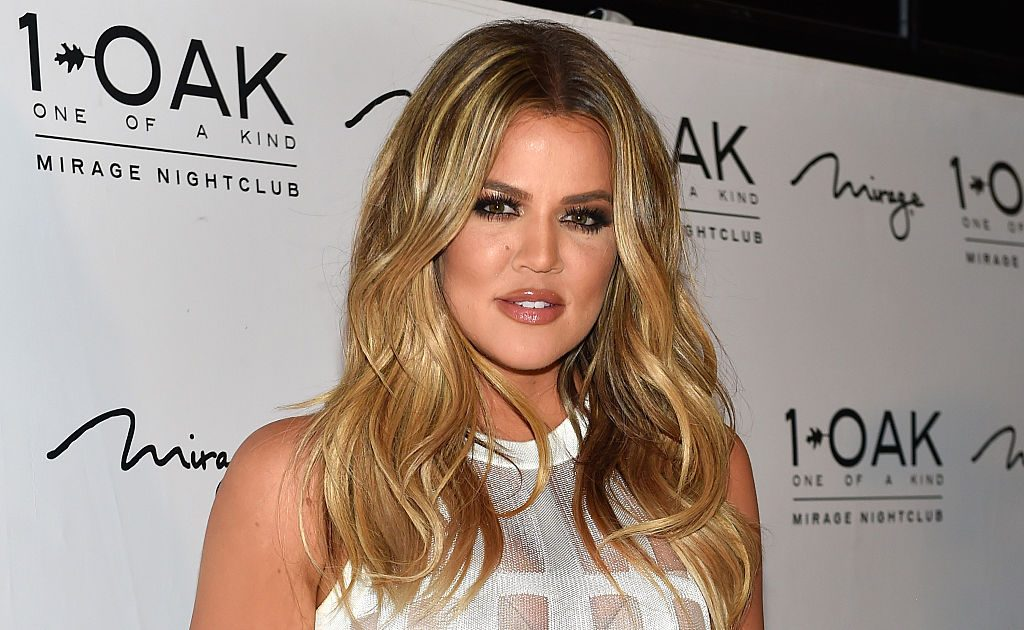 Khloe Kardashian arrives at 1 OAK Nightclub at The Mirage Hotel.