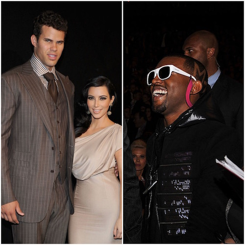 Kim Kardashian and Kris Humphries; Kanye West
