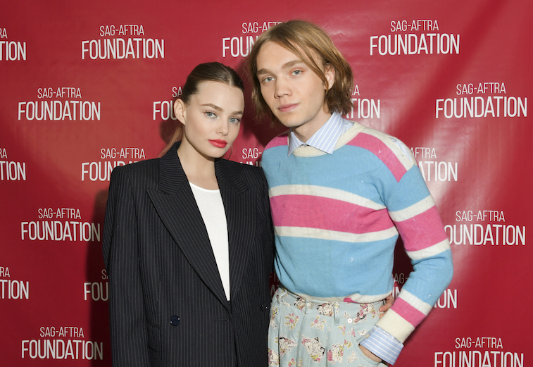 Kristine Froseth and Charlie Plummer on the red carpet