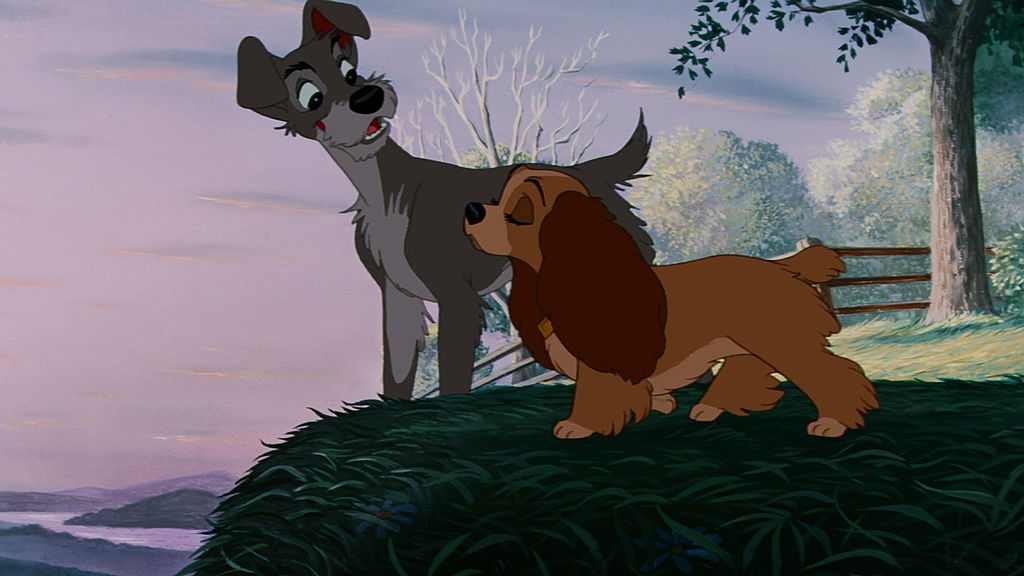 Characters, Lady and the Tramp, appear on Disney Junior
