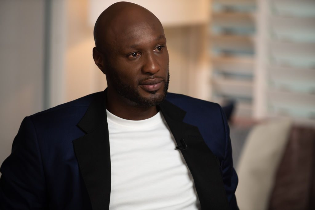 Lamar Odom is interviewed for 'Good Morning America'