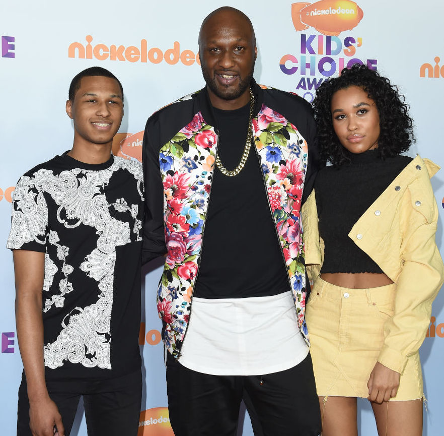 Lamar Odom and his children