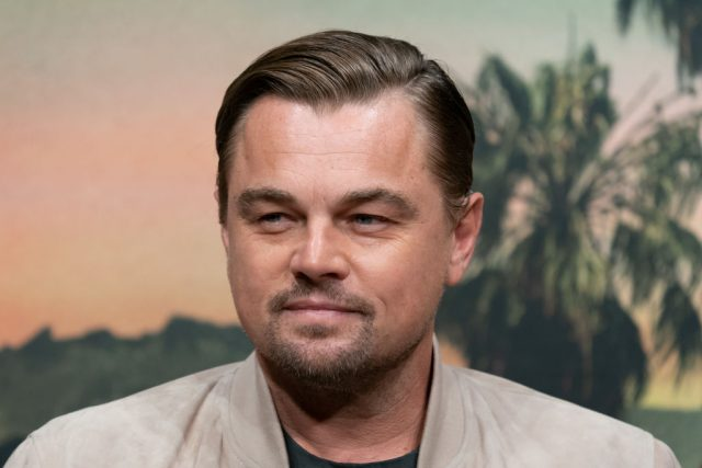 Leonardo DiCaprio attends a press conference for Once Upon A Time In Hollywood