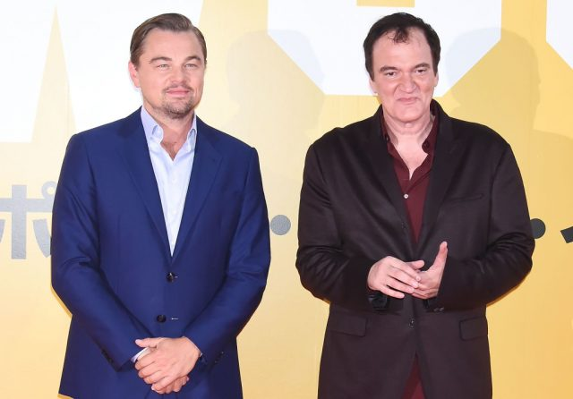 Quentin Tarantino and Leonardo DiCaprio attend the Japan premiere of 'Once Upon A Time In Hollywood'