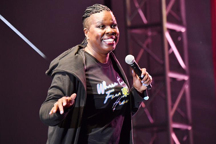 Leslie Jones performs onstage